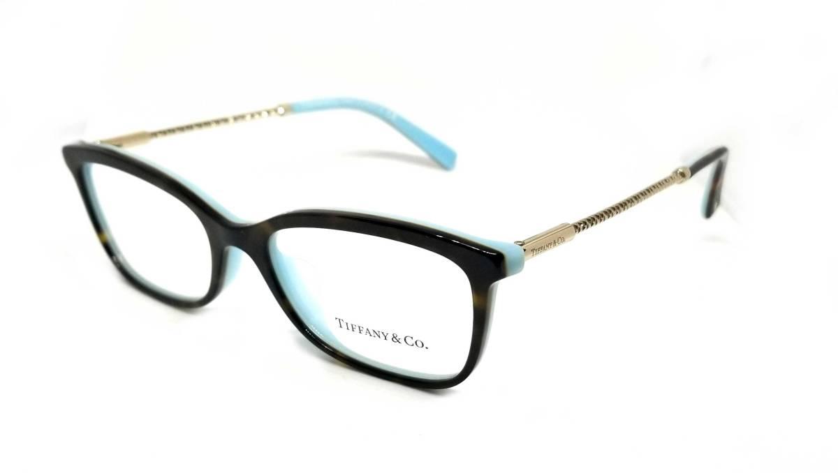 未使用 ティファニー メガネ 眼鏡 フレーム めがね ゴールド べっ甲柄 ロゴ レディース メガネフレーム TIFFANY 伊達メガネ だてメガネ めがねフレーム 眼鏡フレーム Tiffany & Co 【中古】