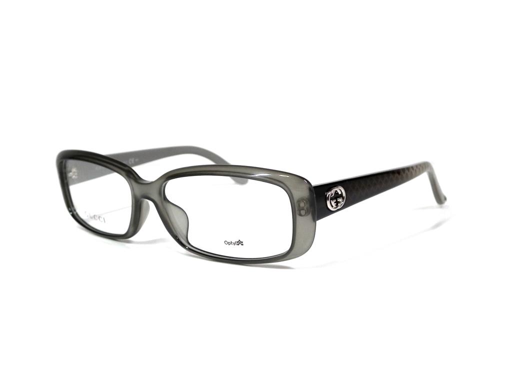 未使用 グッチ 眼鏡 メガネフレーム メガネ フレーム グレー インターロッキング クリア メンズ レディース GUCCI 眼鏡 めがね 透明 伊達メガネ 【中古】