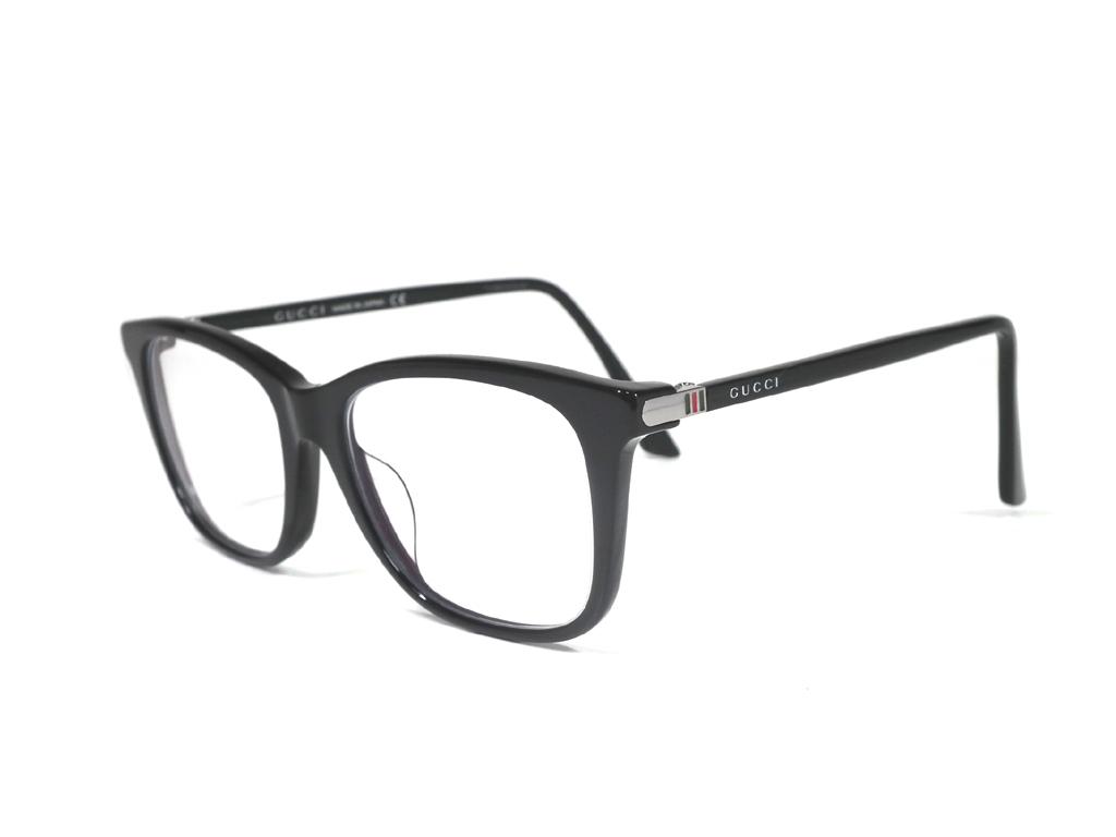 新品同様 グッチ メガネ めがね ロゴ フレーム 眼鏡フレーム クリア メガネフレーム グレー メンズ GUCCI めがねフレーム 眼鏡 GG0018 セルフレーム スケルトン 【中古】