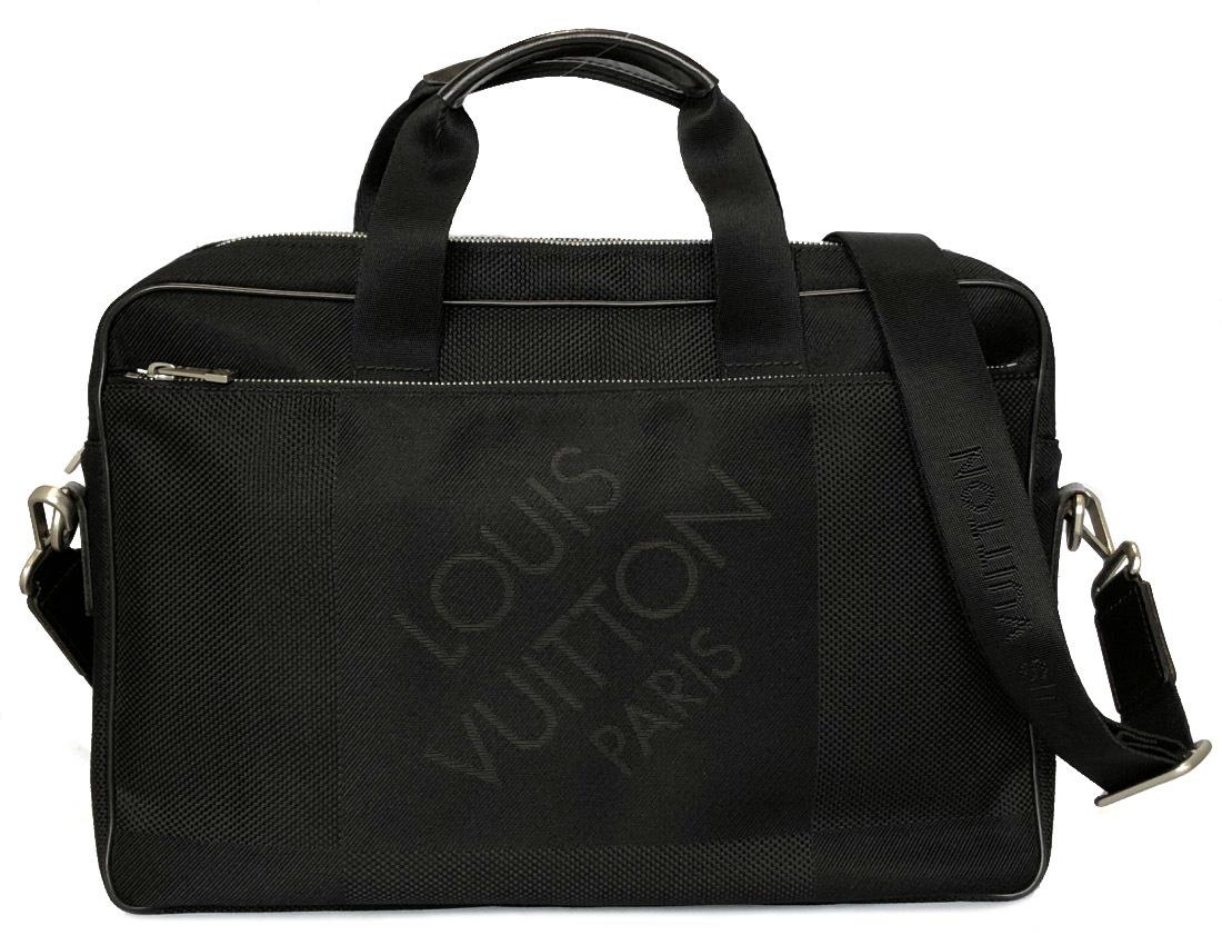 ルイヴィトン 2WAY ブリーフケース ダミエジェアン アソシエ PM ブラック 黒 ノワール 書類かばん メンズ 美品 LV ルイ・ビトン ビジネスバッグ N58038 LOUIS VUITTON 【中古】