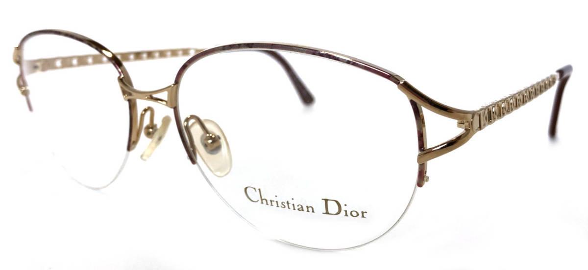 未使用 クリスチャンディオール メガネフレーム メガネ レディース ディオール ゴールド めがね 眼鏡 フレーム Dior めがねフレーム 眼鏡フレーム CD CD2046 Christian Dior 【中古】