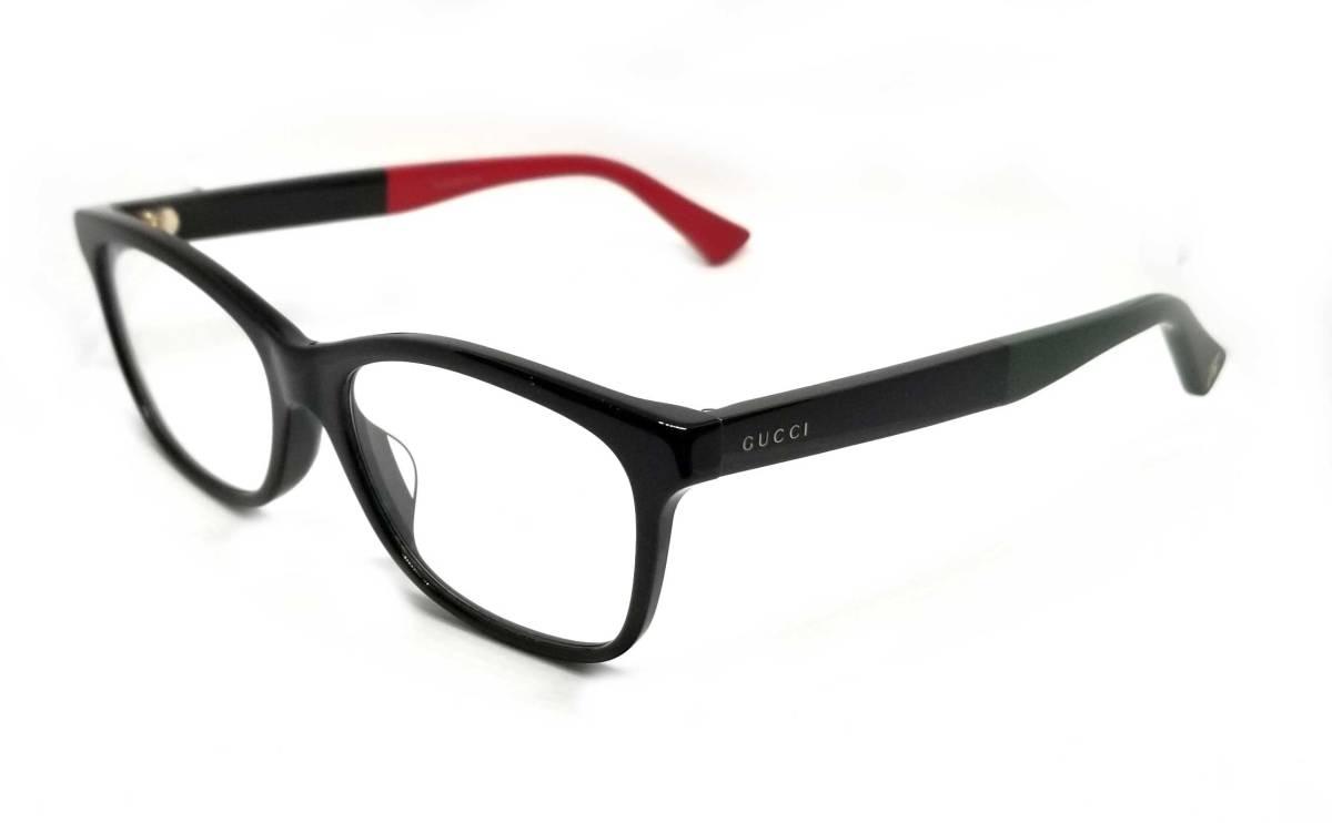 グッチ メガネ めがね フレーム 眼鏡 GG メガネフレーム ブラック 黒 メンズ レディース 細身 ロゴ GUCCI 伊達メガネ めがねフレーム 眼鏡フレーム 【中古】