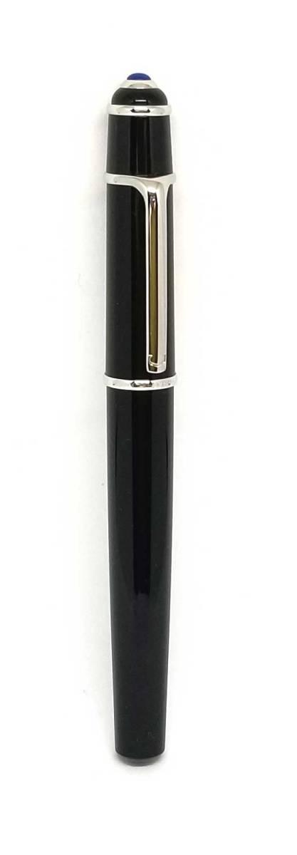 カルティエ 万年筆 K18 ディアボロ 750WG 石入り ブラック 黒 コンポジット 筆記用具 メンズ レディース Cartier CARTIER  【中古】