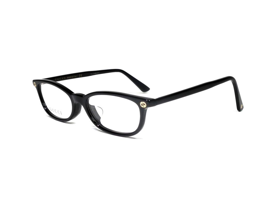 未使用 グッチ 眼鏡 メガネフレーム めがね GG0095 ブラック 黒 GG メンズ レディース GUCCI 伊達メガネ メガネ フレーム 【中古】