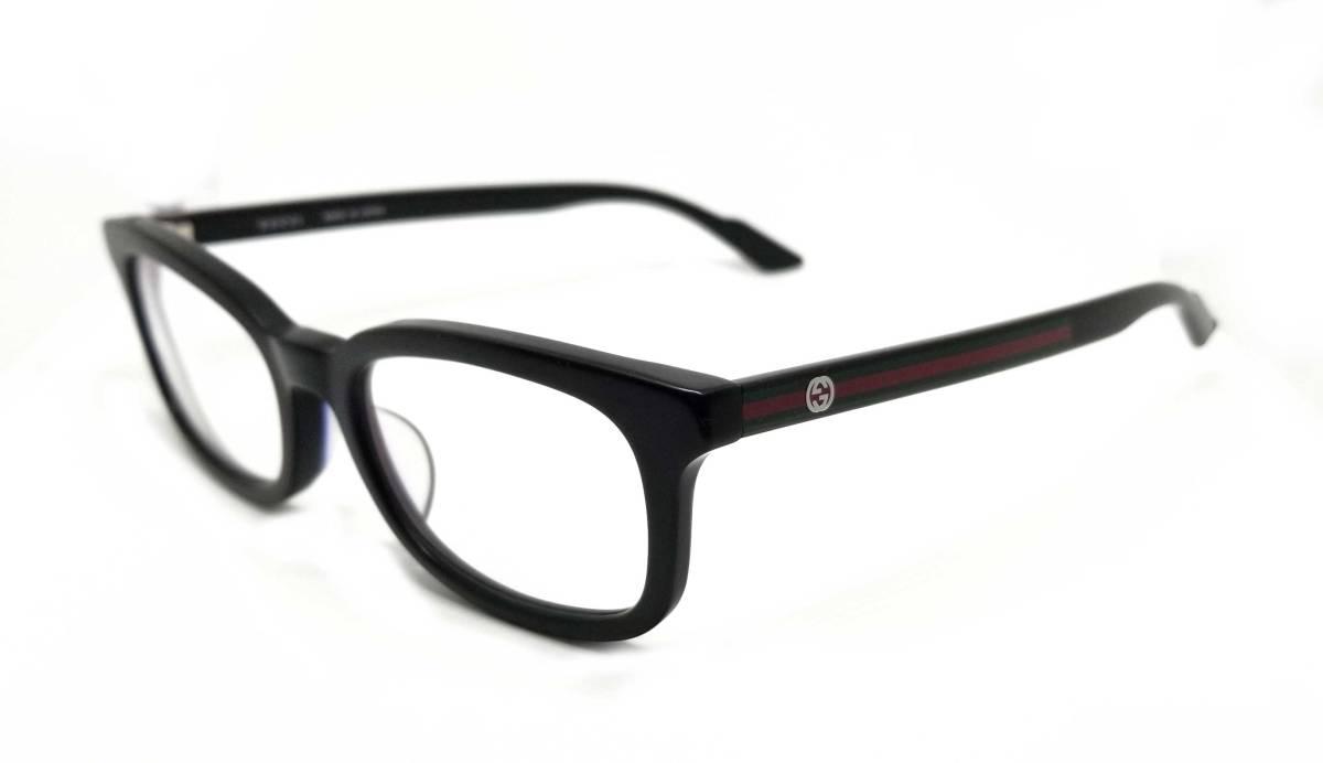グッチ メガネ めがね フレーム 眼鏡 GG メガネフレーム ブラック 黒 メンズ レディース 細身 GG9105 GUCCI 伊達メガネ シェリー めがねフレーム 眼鏡フレーム 美品  【中古】