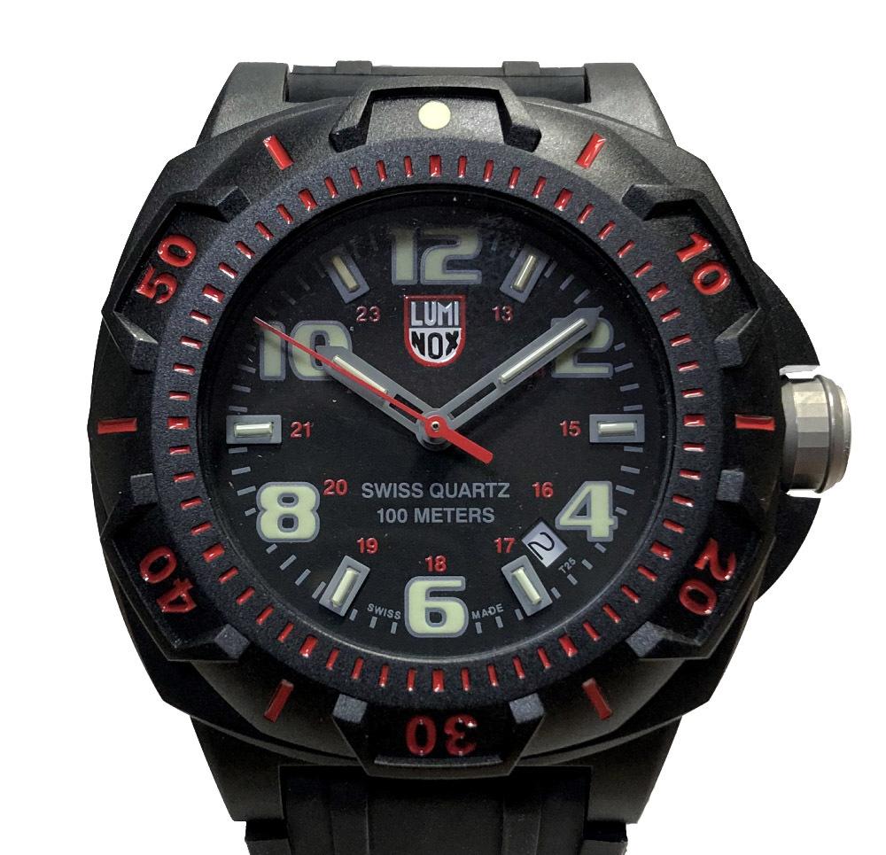 未使用 ルミノックス 時計 XL.L0215.SL xl0215sl ラバーブレス land sentry 腕時計 メンズウォッチ メンズ ブラック レッド スポーツ セントリー ナイトビュー オールブラック luminox 【中古】