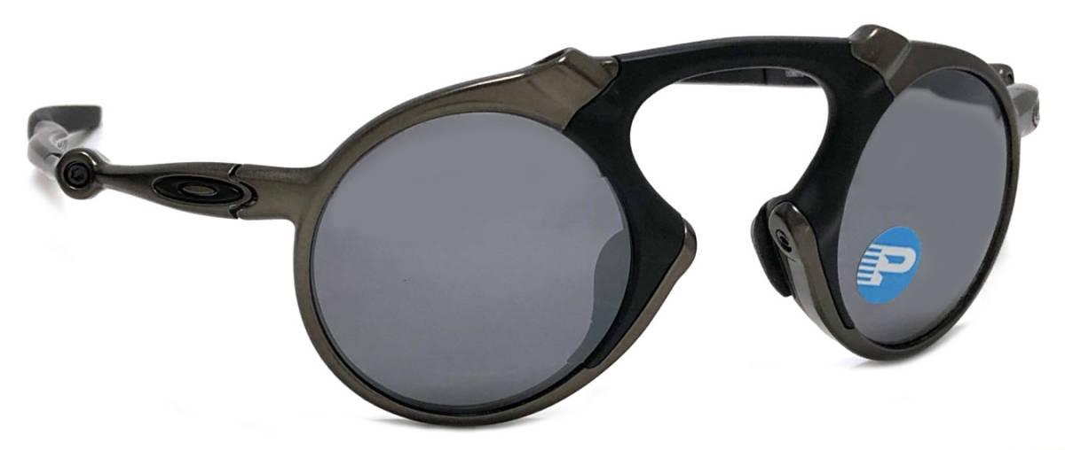 未使用 オークリー サングラス マッドマン oo6019-02 OAKLEY MADMAN ブラック POLARIZED Pewter ガンメタ系 メンズ レディース 【中古】