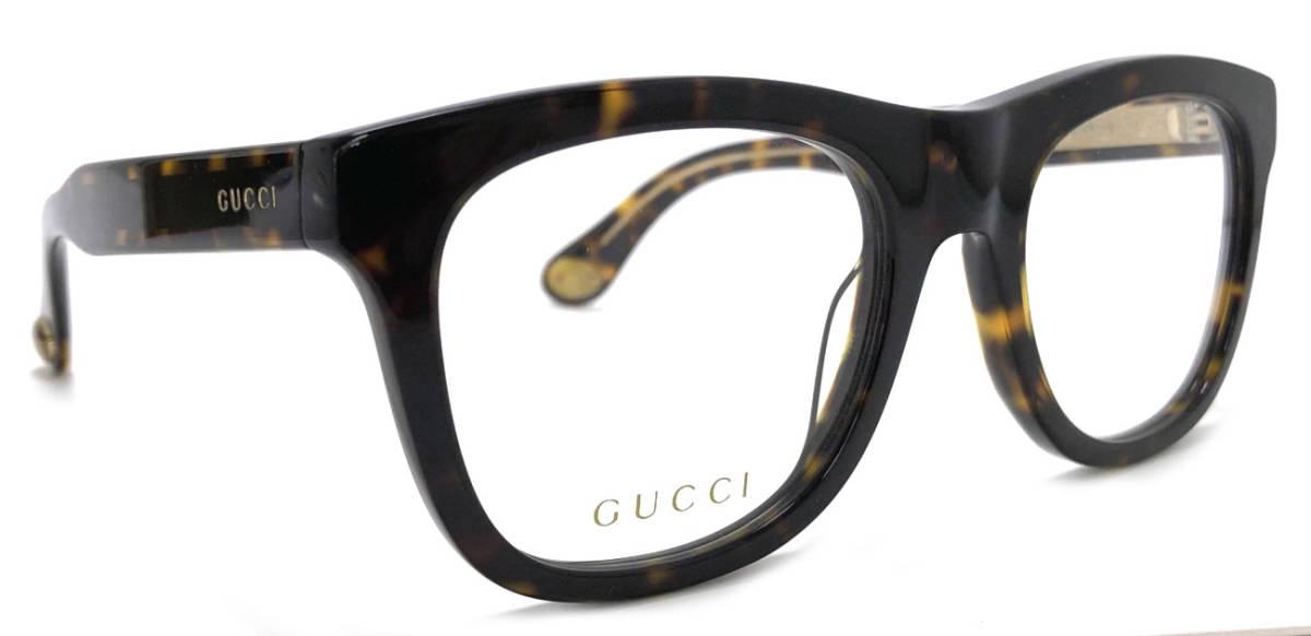 未使用 グッチ メガネフレーム GG0480 眼鏡 メガネ フレーム GG べっ甲柄 ブラウン ロゴ メンズ レディース 眼鏡フレーム めがね めがねフレーム GUCCI 【中古】
