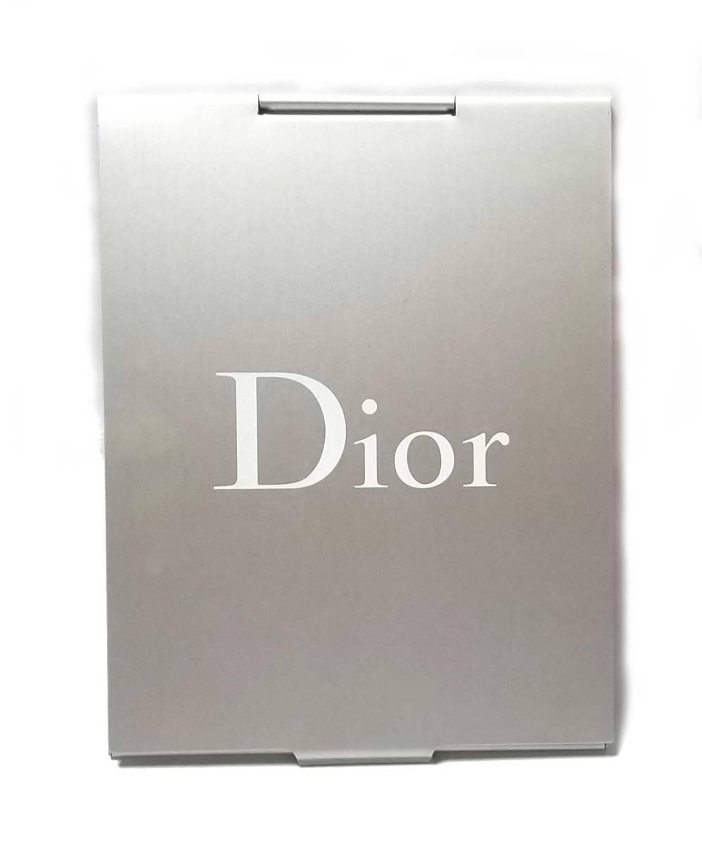 ディオール ミラー スタンドミラー シルバー 鏡 手鏡 Dior 【中古】