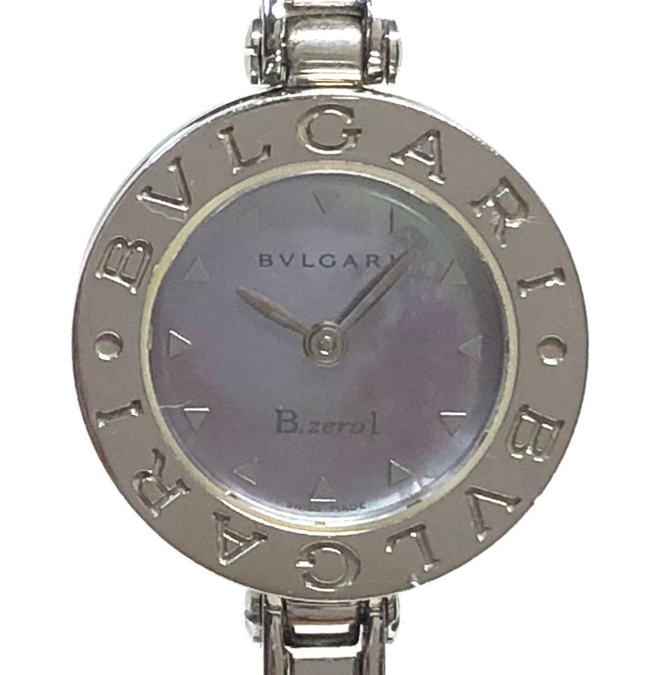 ブルガリ B.zero1腕時計 BZ22S バングル シェル文字盤 シルバー ブレスレット ビーゼロワン B-ZERO1 #S レディース ウォッチ 時計 BVLGARI 【中古】