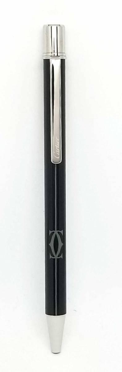 新品同様 カルティエ ボールペン C2 ブラック×シルバー 2C 筆記用具 文房具 ステイショナリー ペン ブラックインク CARTIER Cartier 【中古】