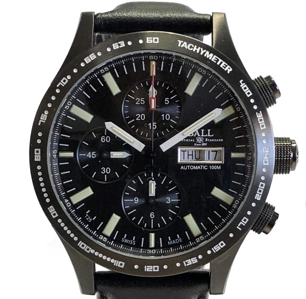 新品同様 ボール 時計 BALL ウォッチ ストークマン ストームチェイサー CM2192C クロノグラフ ブラック 世界限定1999本 腕時計 メンズウォッチ 【中古】
