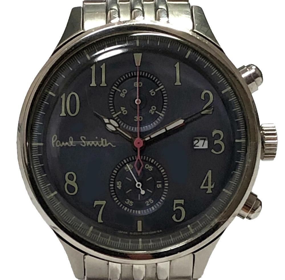 ポールスミス 腕時計 THE CITY TWO COUNTER CHRONOGRAPH 0511-S060583 ザシティ ツーカウンタークロノグラフ クォーツ SS グレー 文字盤 メンズ 紳士用 時計 Paul Smith 【中古】