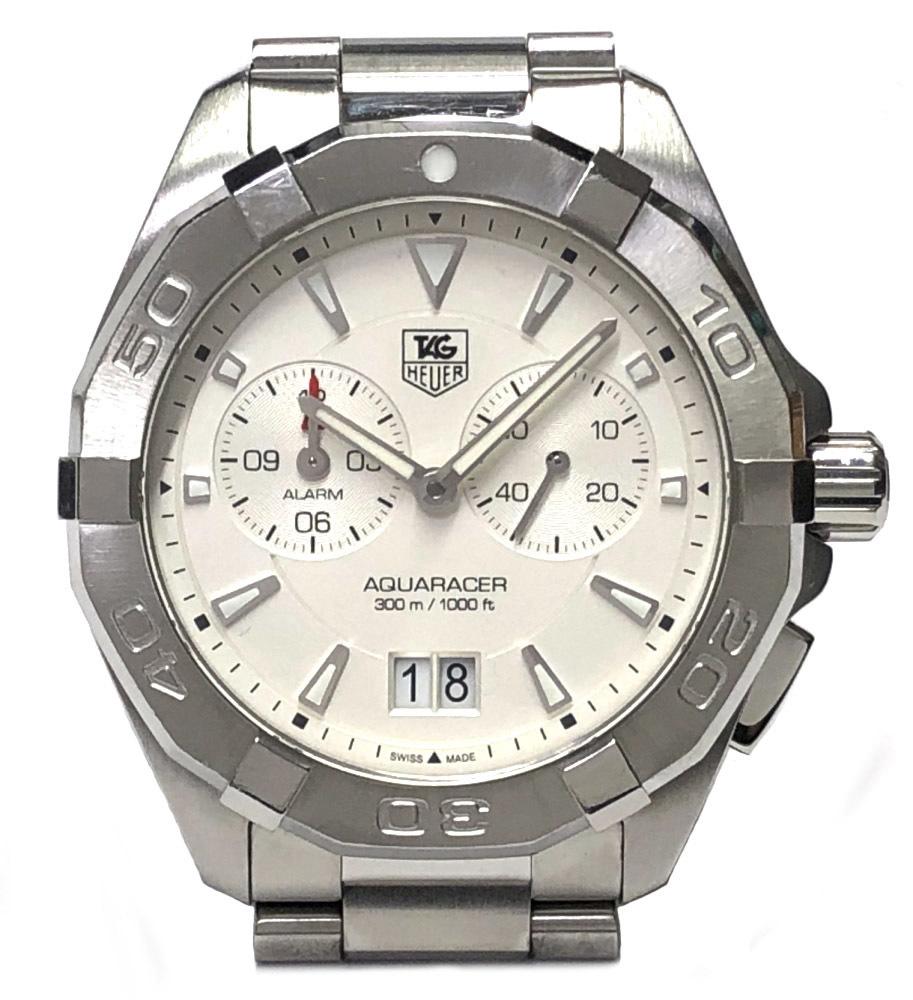 タグホイヤー 腕時計 時計 アクアレーサー WAY111Y アラーム付き メンズウォッチ 300M防水 メンズ 紳士用 TAG Heuer QZ 【中古】