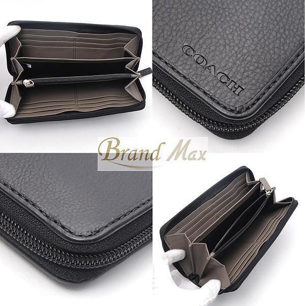 Coaches / large zip around wallet /F74378 / calf / grey