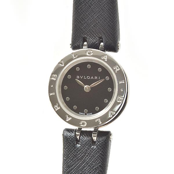 ブルガリ BVLGARI b.zero1 ビー ゼロワン BZ23SC SS セラミック クォーツ 黒・ブラック文字盤 レディース時計【中古】