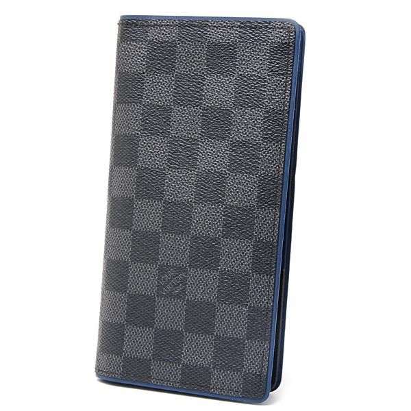 ルイヴィトン Louis Vuitton ダミエグラフィット ポルトフォイユ・ブラザ 二つ折り長財布 N41688 グラフィット【中古】