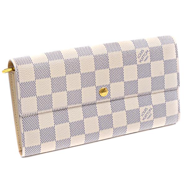 ルイヴィトン Louis Vuitton ダミエアズール 長財布 ポルトフォイユ・サラ 旧型 N61735【中古】