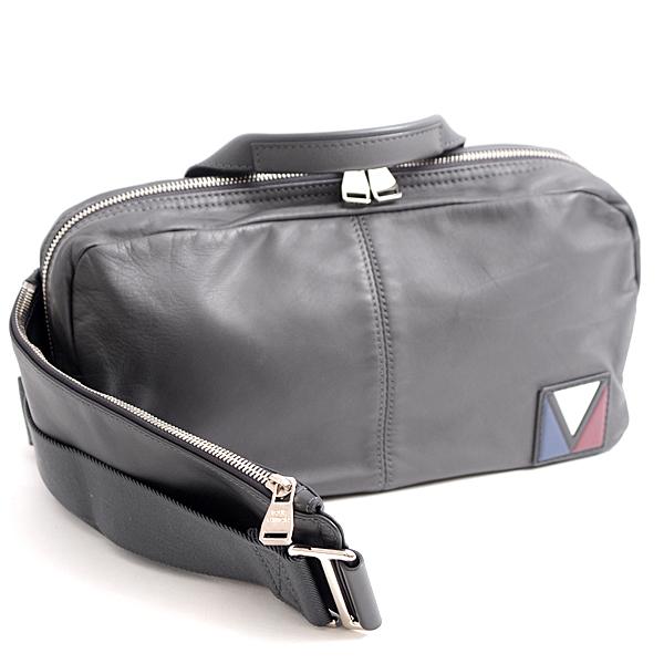ルイヴィトン Louis Vuitton カーフ Vライン ファスト ボディバッグ M50445 グレー【中古】