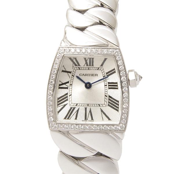 カルティエ Cartier ラドーニャSM ダイヤベゼル クォーツ WE60039G シルバー文字盤【中古】