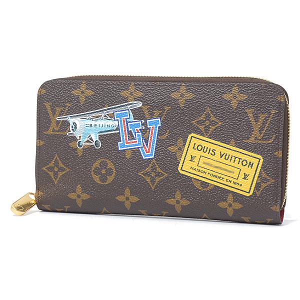 ルイヴィトン Louis Vuitton モノグラム ワールドツアー ジッピーウォレット M41896【中古】