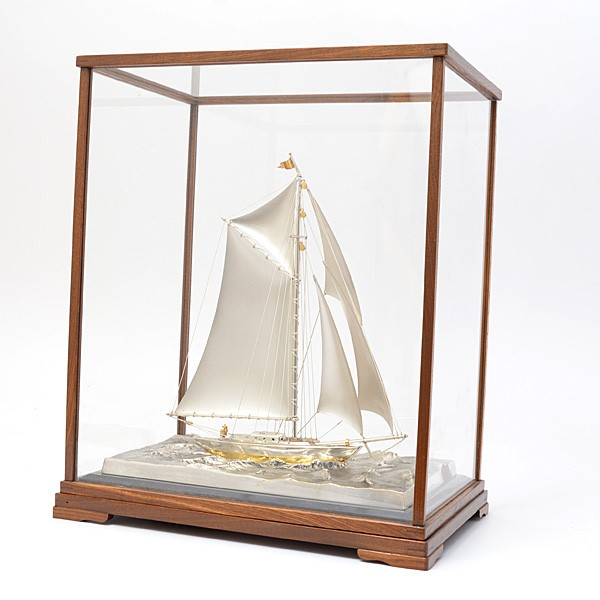 SV950 シルバー製 ヨット 船 置物 伝統工芸品 250g【中古】