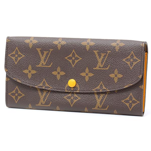ルイヴィトン Louis Vuitton モノグラム ポルトフォイユ・エミリー M60698 イニシアル入り ミモザ イエロー【中古】