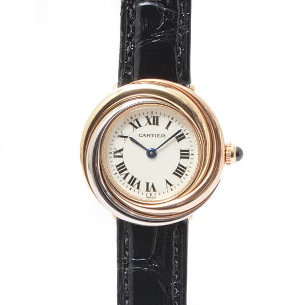 カルティエ Cartier トリニティ レディース腕時計 クオーツ アイボリー文字盤 美品【中古】