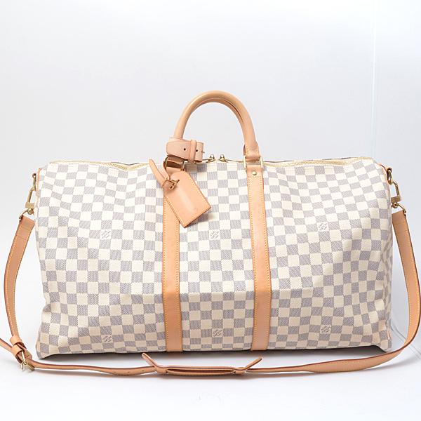 ルイヴィトン Louis Vuitton ダミエ・アズール ボストンバッグ キーポル55 N41429【中古】