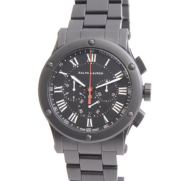 ラルフローレン 時計 メンズ スポーティングコレクション2012 RLR023660 クロノグラフ ブラック RALPH LAUREN【中古】