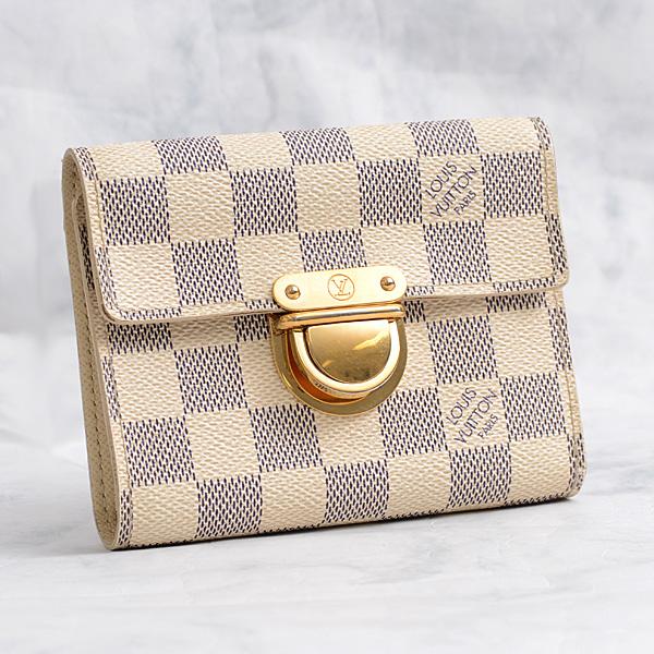 ルイヴィトン Louis Vuitton ダミエアズール ポルトフォイユ・コアラ N60013【中古】