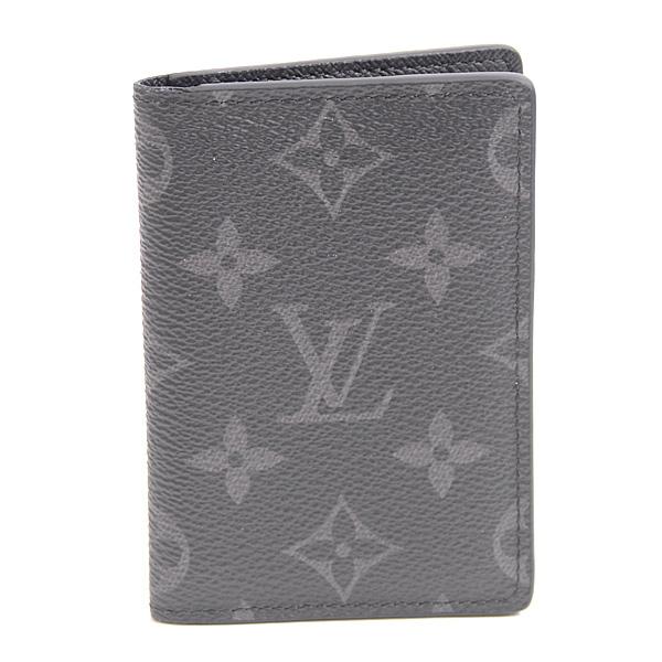 ルイヴィトン Louis Vuitton モノグラム・エクリプス オーガナイザー ドゥ ポッシュ M61696 カードケース ノワール【中古】