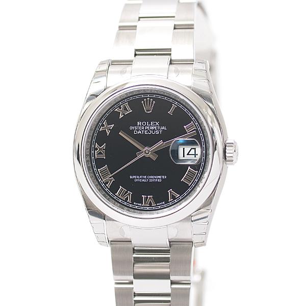 ロレックス ROLEX デイトジャスト 116200 ブラック 黒 ローマ ランダム ルーレット メンズ 腕時計【未使用品】
