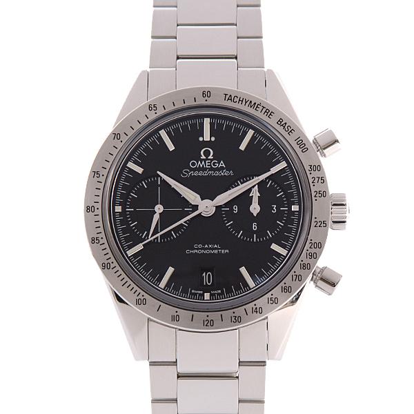 オメガ OMEGA SS 331.10.42.51.01.001 スピードマスター 57 メンズ 腕時計 ブラック 黒 自動巻 クロノグラフ【中古】