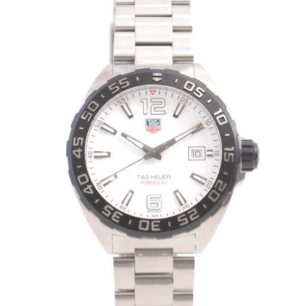 タグホイヤー TAG Heuer SS フォーミュラ1 WAZ1111 ホワイト 白 電池式 メンズ 時計【中古】
