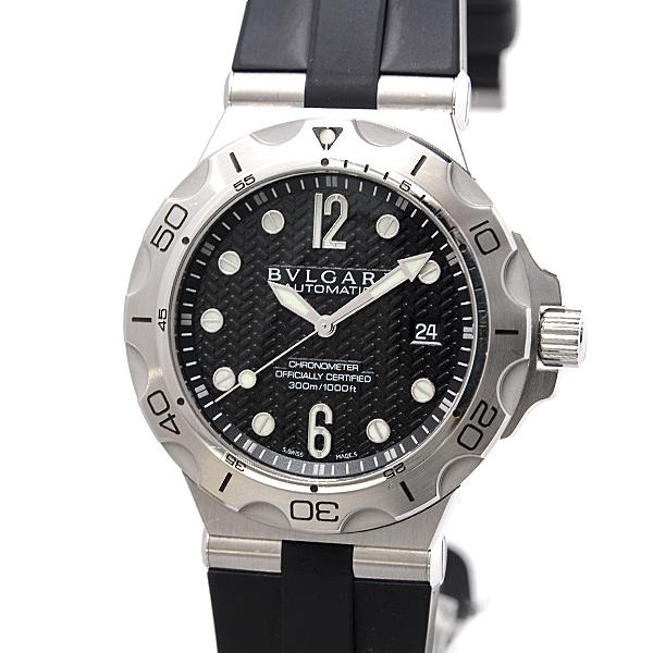 ブルガリ BVLGARI SS ステンレス ディアゴノ プロフェッショナル スクーバ アクア DP42SSD メンズ腕時計【中古】