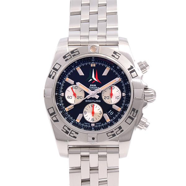 ブライトリング BREITLING フレッチェトリコローリ限定 AB0110 クロノマット44 ブラック文字盤 メンズ腕時計 ステンレス【中古】
