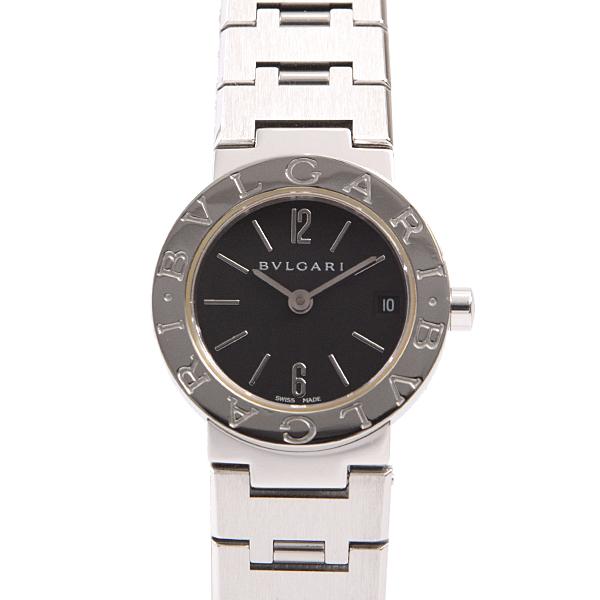 【12月29日~1月5日まで年末年始休業のため受注対応不可】ブルガリ BVLGARI ブルガリブルガリ レディース腕時計 ブラック文字盤 電池式 BB23SS【中古】