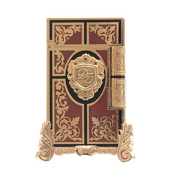 デュポン S.T.Dupont ライン2 セカンドエンパイア(第二帝政) プレステージ 世界限定1872個 ゴールド×レッド【中古】
