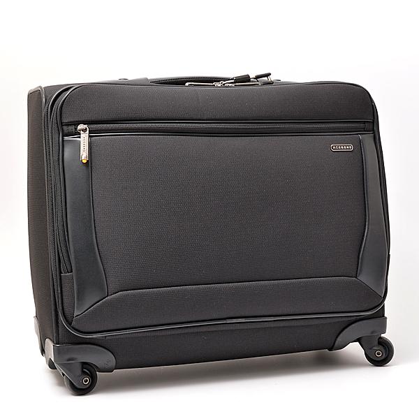 エースジーン ACEGENE トランク キャリーバッグ ユニセックス ブラック TSAロック付き(社外品)【中古】