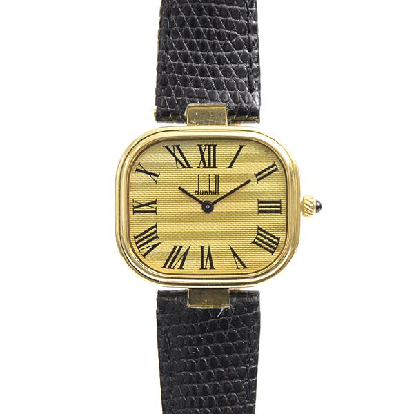 ダンヒル dunhill ミレニアム スクエアデザイン メンズ 腕時計 電池式 SV925 シルバー ゴールドメッキ【中古】