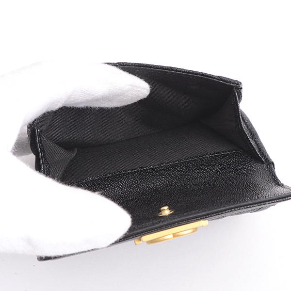 0b52211a4ba4 ショッピング · レディース財布 · シャネル CHANEL キャビアスキン ボーイシャネル 三つ折り財布 ブラック レディース A84432【中古】
