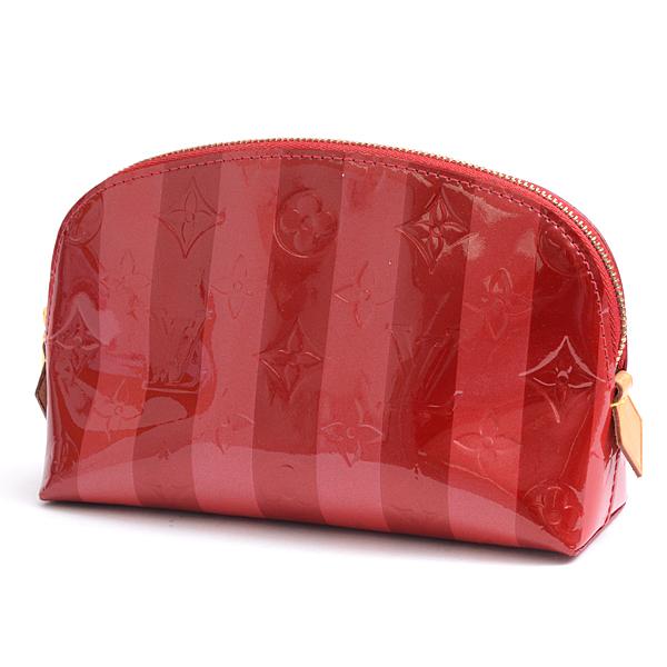 ルイヴィトン Louis Vuitton ヴェルニ レイユール ポシェットコスメティック 化粧ポーチ ポムダムール レディース M91721【中古】