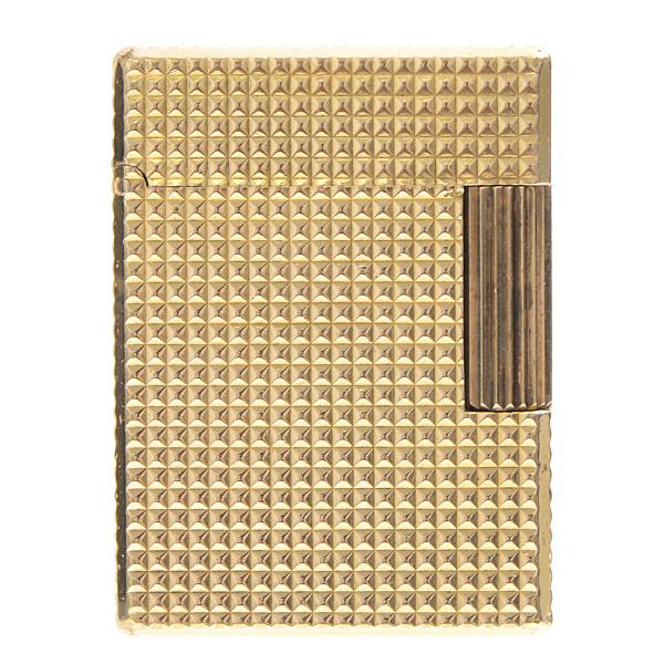 【全商品エントリーするだけでポイント10倍!】デュポン S.T.Dupont ライン1 ショート ローラーガスライター ダイヤモンドヘッド ゴールド メンズ【中古】