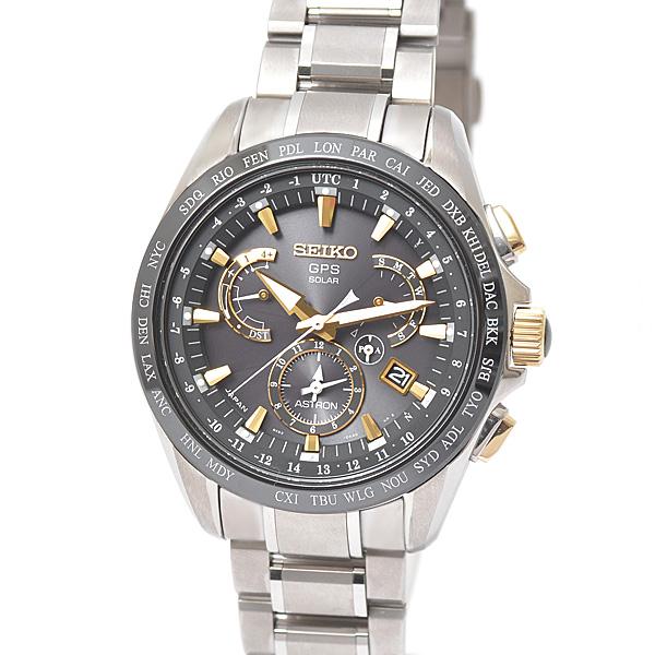 セイコー SEIKO アストロン GPSソーラー メンズ腕時計 8X-53-0AB0-2 8Xシリーズ ブラック文字盤 チタン セラミック【中古】