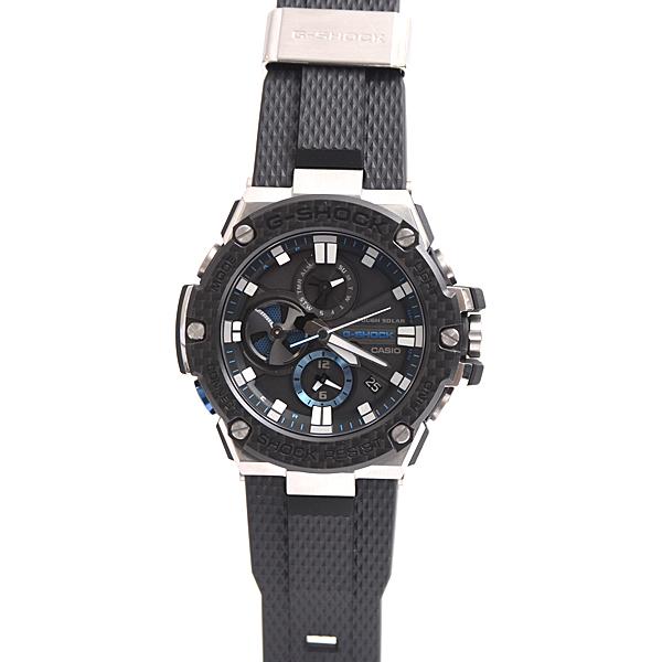 カシオ CASIO Gショック G-SHOCK ジーショック ラバーベルト タフソーラー発電式 ブラック メンズ腕時計 GST-B100XA-1AJF【未使用展示品】