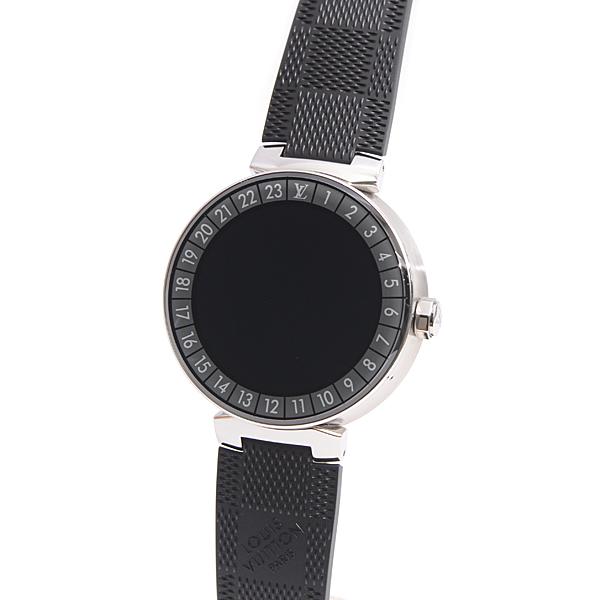 【全商品エントリーするだけでポイント10倍!】ルイヴィトン Louis Vuitton タンブール ホライゾン コネクテッド ウォッチ メンズ腕時計 QA004Z ステンレス・SS【中古】