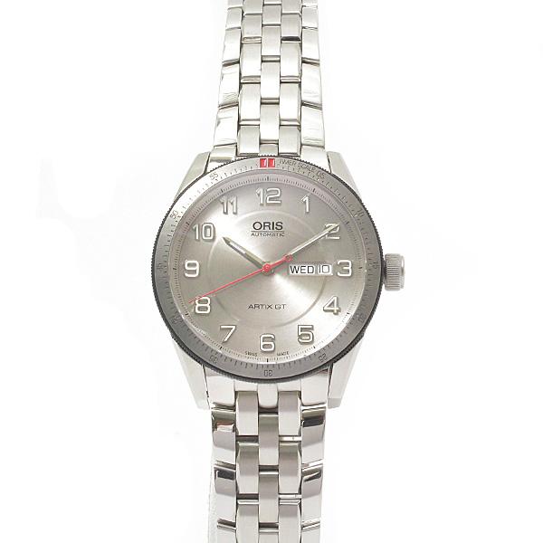 オリス ORIS アーティックスGT 腕時計 メンズ デイデイト 自動巻 シルバー 01.735.7662.4461【中古】