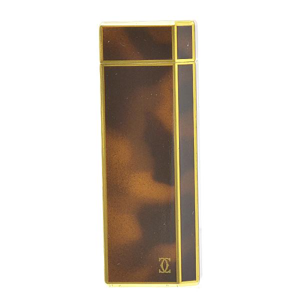 【気質アップ】 【12/30~1/4まで年末年始休業】カルティエ Cartier 5角 ガスライター ブラウンラッカー×ゴールド メンズ【】, ネームインポエムWILLBE 70414849