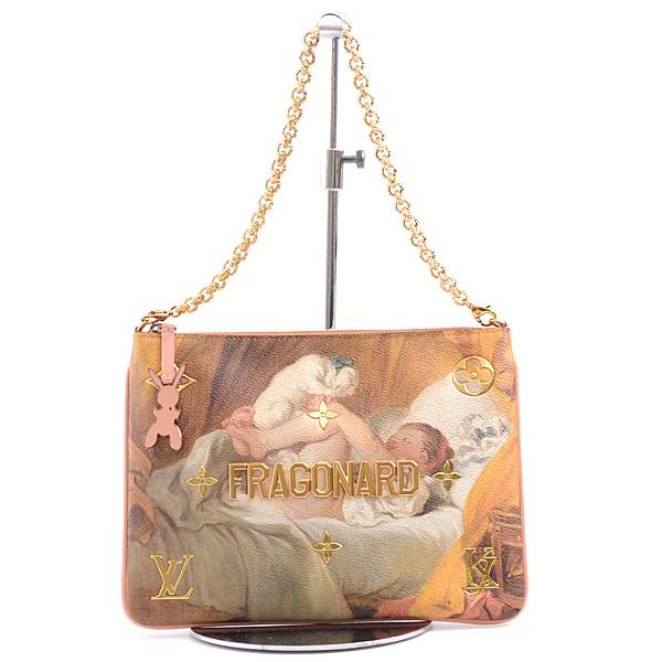 ルイヴィトン Louis Vuitton ポシェット・プラ マスターズコレクション フラゴナール 犬と戯れる少女 ピンク系 M64702【中古】